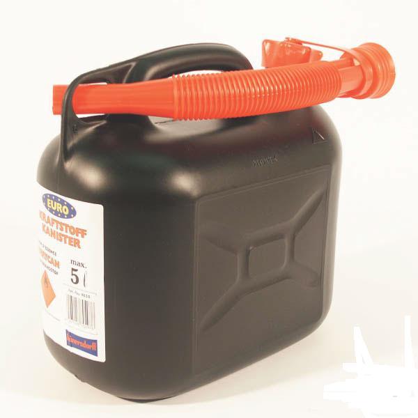 Plastový kanystr na palivo černý 5 l