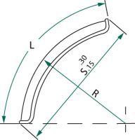 Umělohmotný čtvrtblatník pro jedno a dvouřadá kola šířka 400 mm délka 700 mm