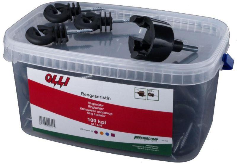 Kruhový izolátor Olli s vrutem 6 mm pro elektrický ohradník