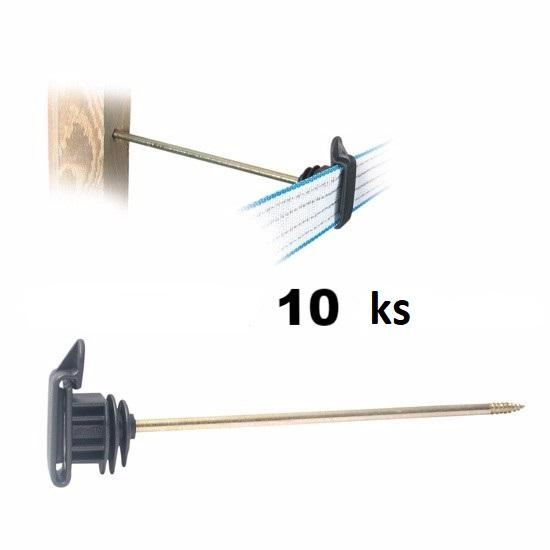 Distanční páskové izolátory IRUVIS LON s vrutem s trnem 20 cm pro elektrický ohradník