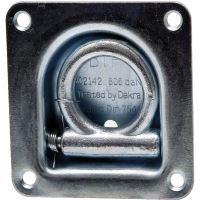 Kotevní miska na přívěs, přívěsný vozík čtvercová 105 x 105 mm vestavění 24 mm