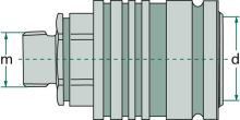Hydraulická rychlospojka samice KM 18L 3 M26 x 1,5