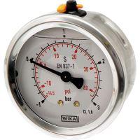 """Glycerinovy tlakoměr přípoj 1/4"""" zadní průměr 63 mm pro fekální vozy"""