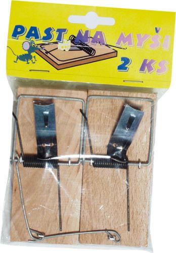 Past na myši dřevěná v PE sáčku, pár