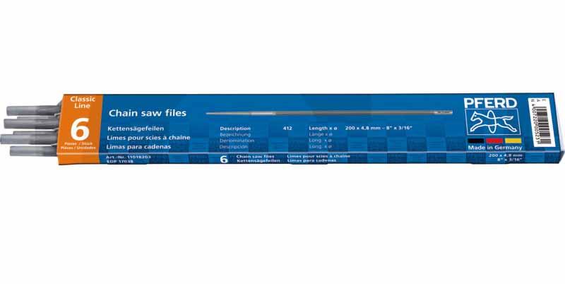 PFERD pilník kulatý na pilové řetězy průměr 4,5 mm 6 ks