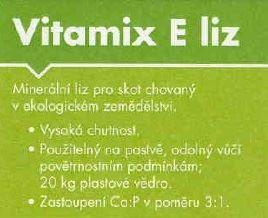 Minerální melasovaný BIO liz VITAMIX E liz kbelík 20 kg pro skot