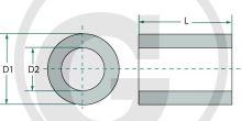 Vložka rozpěrná pro packer kola pro válce průměr 88 mm