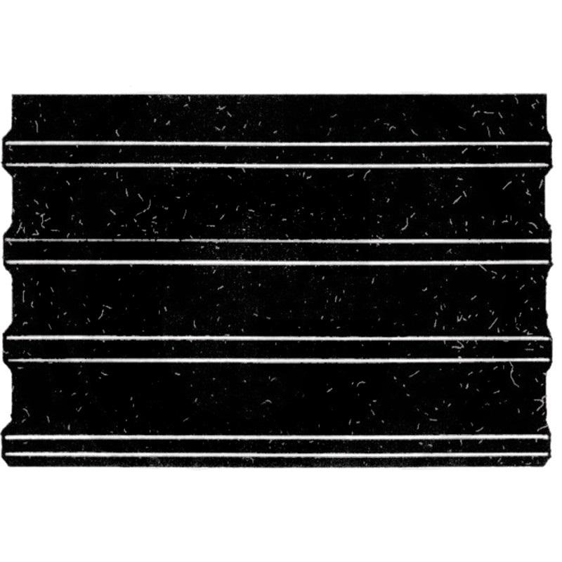 Gumová rohož žebrovaná do přepravníku, přívěsu pro koně 3000 x 1650 mm tloušťka 8 mm