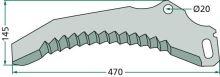 Nůž pro sběrací vozy vhodný pro Pöttinger SiloProfi Trend 21T