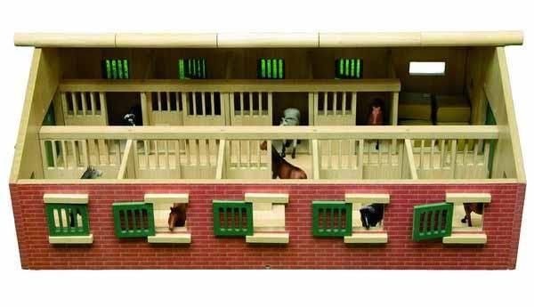 Kids Globe – stáj pro koně s 10-ti boxy 1:32