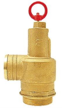 """MZ pojistný ventil pro fekální vozy s hadicovým přípojem 1 1/2"""" 1 bar"""