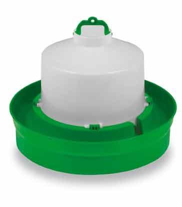 Napáječky kloboukové Gaun pro drůbež 5, 8,5 a 12 l s nižší a vyšší miskou