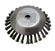 Ocelový copánkový kartáč na plevel vnější průměr 200 mm otvor 25,4 mm ke křovinořezu