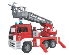 Bruder - požární auto MAN se žebříkem včetně světelného a zvukového modulu