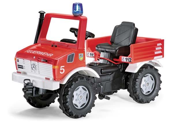 Rolly Toys - šlapací požární auto s řazením, brzdami, majákem a sirénou X-Trac