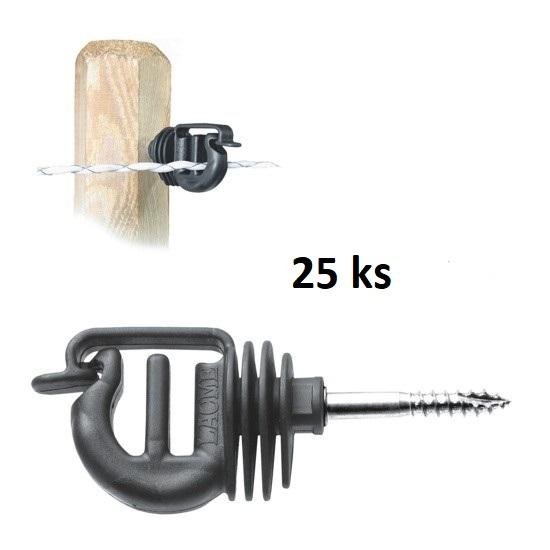 Izolátory s vrutem VIS na drát, provázek, lanko a pásku do 20 mm pro elektrický ohradník