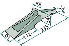 Zub k lopatám čelního nakladače rypací 15