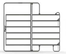 Ohradní panel Texas s dveřmi 2,4 x 2,1 m pro koně a skot