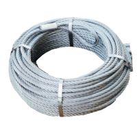 Lesnické ocelové lano průměr 14 mm 80 m na lesní naviják s okem a hákem