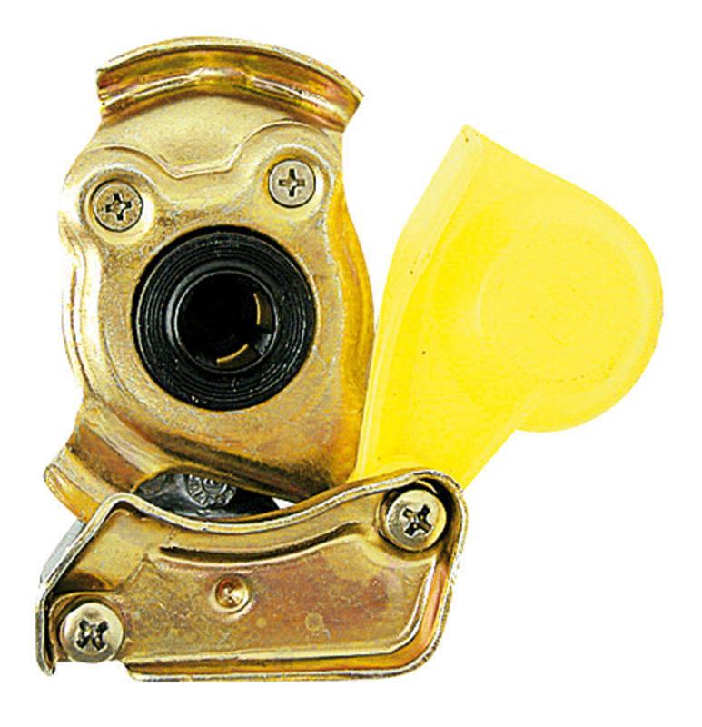 Hlava spojky Granit žlutá pro traktor provedení M 16 x 1,5 brzda automatika