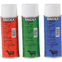 Značkovací sprej Raidex pro ovce 400 ml modrý - použitý