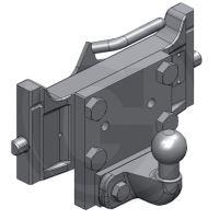 Kulový závěs K50 Scharmüller centrální panel zatížení 200 kg systém Rockinger