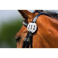 Startovací číslo pro koně 3-místné kulaté