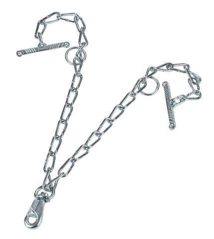 Dvojitý řetěz pro vazáky na dobytek s ROBUS karabinou