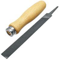 Plochý pilník 150 mm s dřevěnou rukojetí