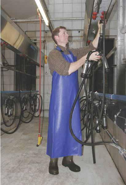 Zástěra na dojení a mytí modrá 100 x 125 cm