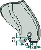 Odhrnovací plech levý vhodný pro Lemken