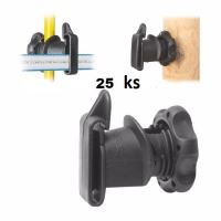 Návlečný páskový izolátor IRUBLOC pro ocelové, plastové a sklolaminátové sloupky 8-14 mm