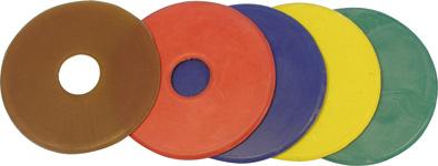 Kroužky na udidlo gumové žluté velikost 9 cm pár