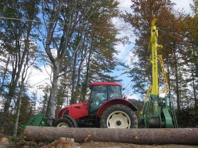 Lesní lanovka na dřevo LARIX 3T-650 s lany Python a vozíkem KOS-31