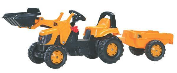 Rolly Toys - šlapací traktor JCB s přívěsem a čelním nakladačem Rolly Kid