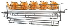 4 nerezové koše na gril na kuřata, ryby, kolena BEEKETAL BS-HK