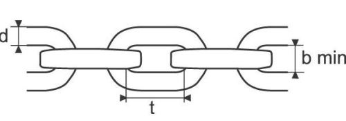 Lesnický řetěz ze čtyřhranných článků G100 8 mm
