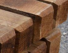Dřevěný kůl hranatý dubový 200 cm 100 x 100 mm na ohradu