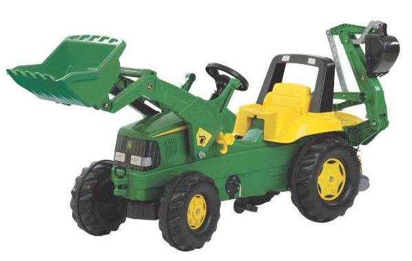Rolly Toys - šlapací traktorbagr John Deere modelová řada Rolly Junior