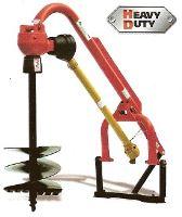 Půdní vrták za traktor ROTOMEC 300-512 pro traktory kat. 1 a 2