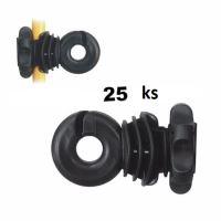 Návlečný kruhový izolátor IVABLOC pro ocelové, plastové a sklolaminátové sloupky 8-14 mm