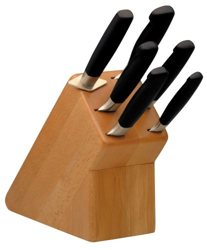 Sada kuchařských nožů dřevěný blok Burgvogel Solingen 1460.951.00.0 - 6 dílný