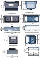 Dvojitá plováková napáječka La GÉE Polybac 72 M pro připojení k cisternám Monobloc držáku