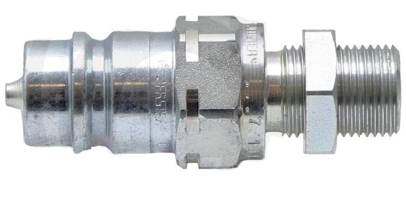 Hydraulická rychlospojka samec s přepážkou KS-S 10L (M16x1,5) DN12-BG3