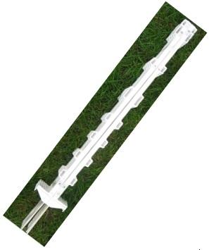 Bílý plastový sloupek Standard 105 cm s ocelovou špičkou pro elektrický ohradník