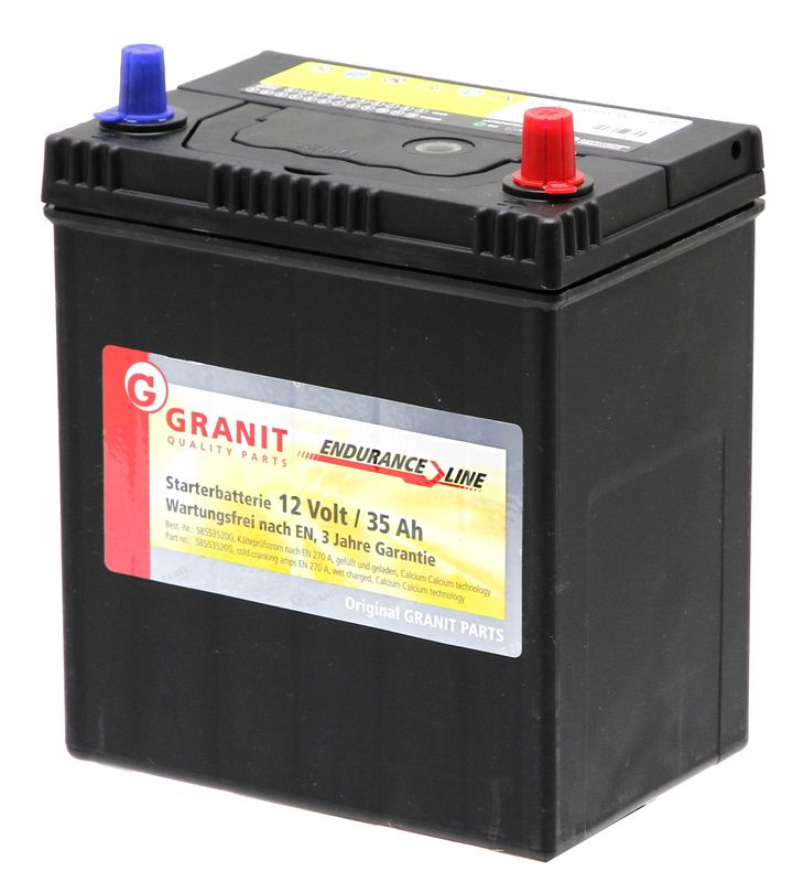 Startovací baterie GRANIT Endurance Line 12V / 35 Ah zapojení 1