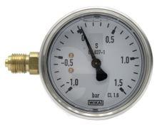 """Vakuový tlakoměr pro fekální vozy přípoj boční 1/4"""""""