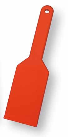 Plastová škrabka na trus na čištění kurníků, holubníků, voliér šířka 100 mm