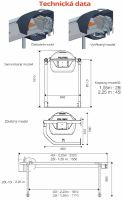 Nerezový napájecí výklopný žlab La GÉE Polynox 225 nástěnný pro skot a koně
