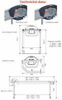 Nerezový napájecí výklopný žlab La GÉE Polynox 225 samostojný vyhřívaný 80W/24V